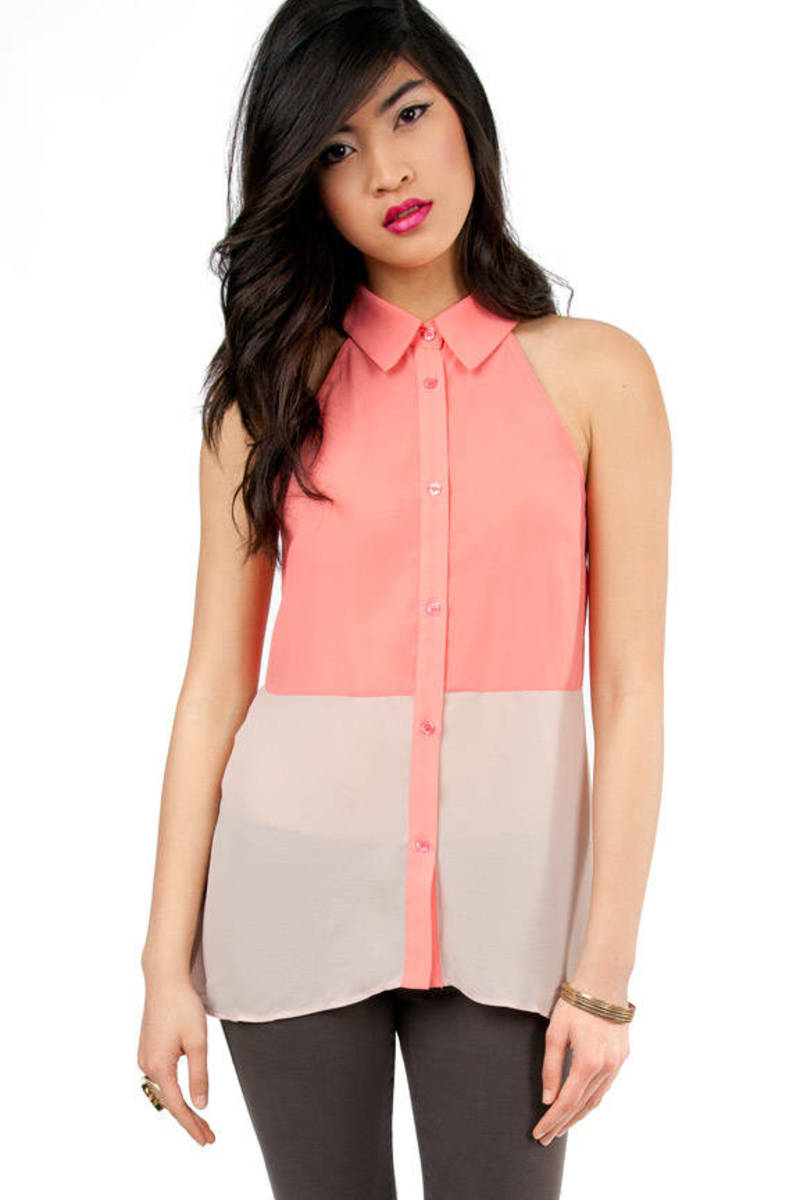 Breaking Blocks Sleeveless Blouse