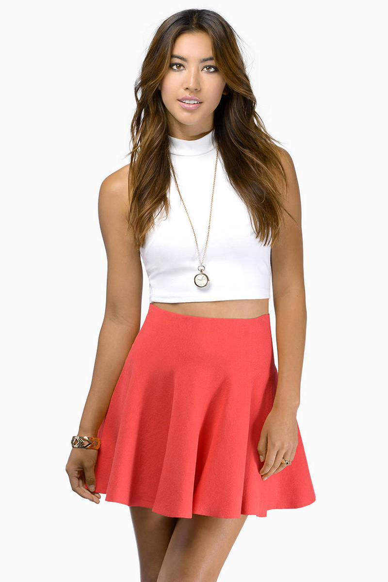 Fill In The Blank Flare Skirt