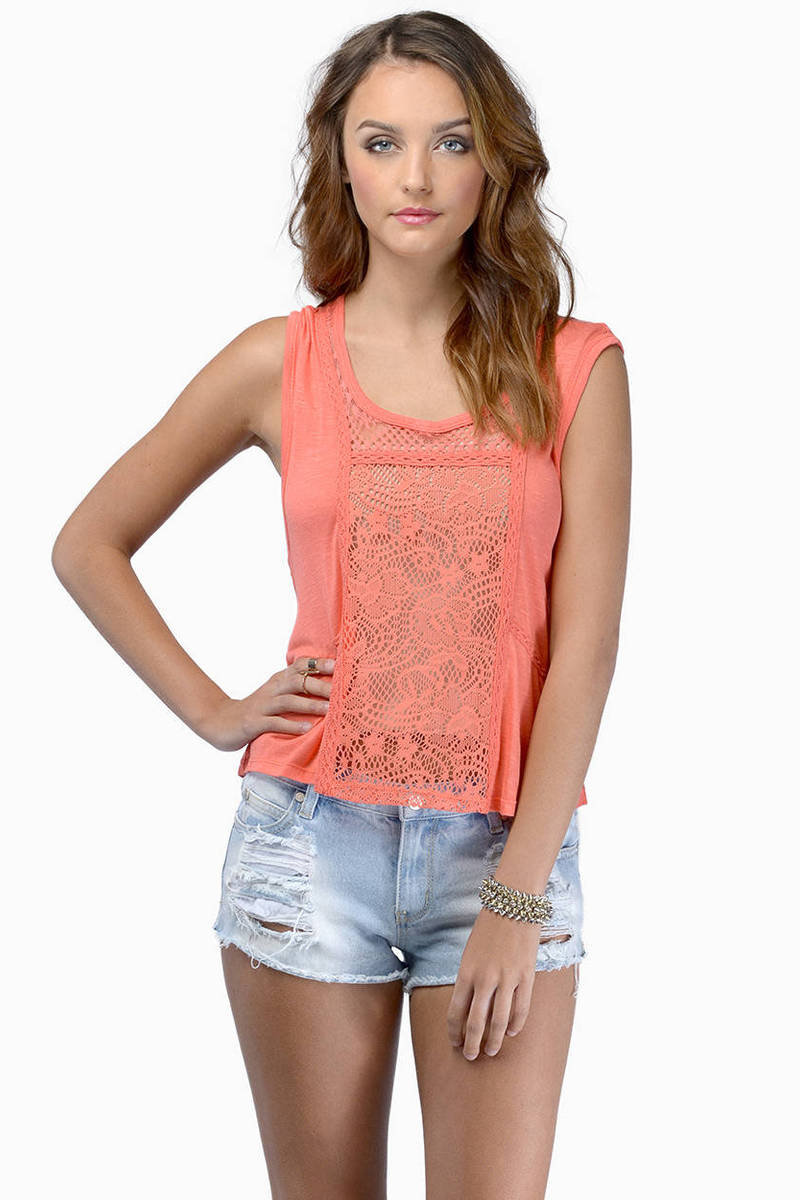 Take It Slow Coral Tank Top
