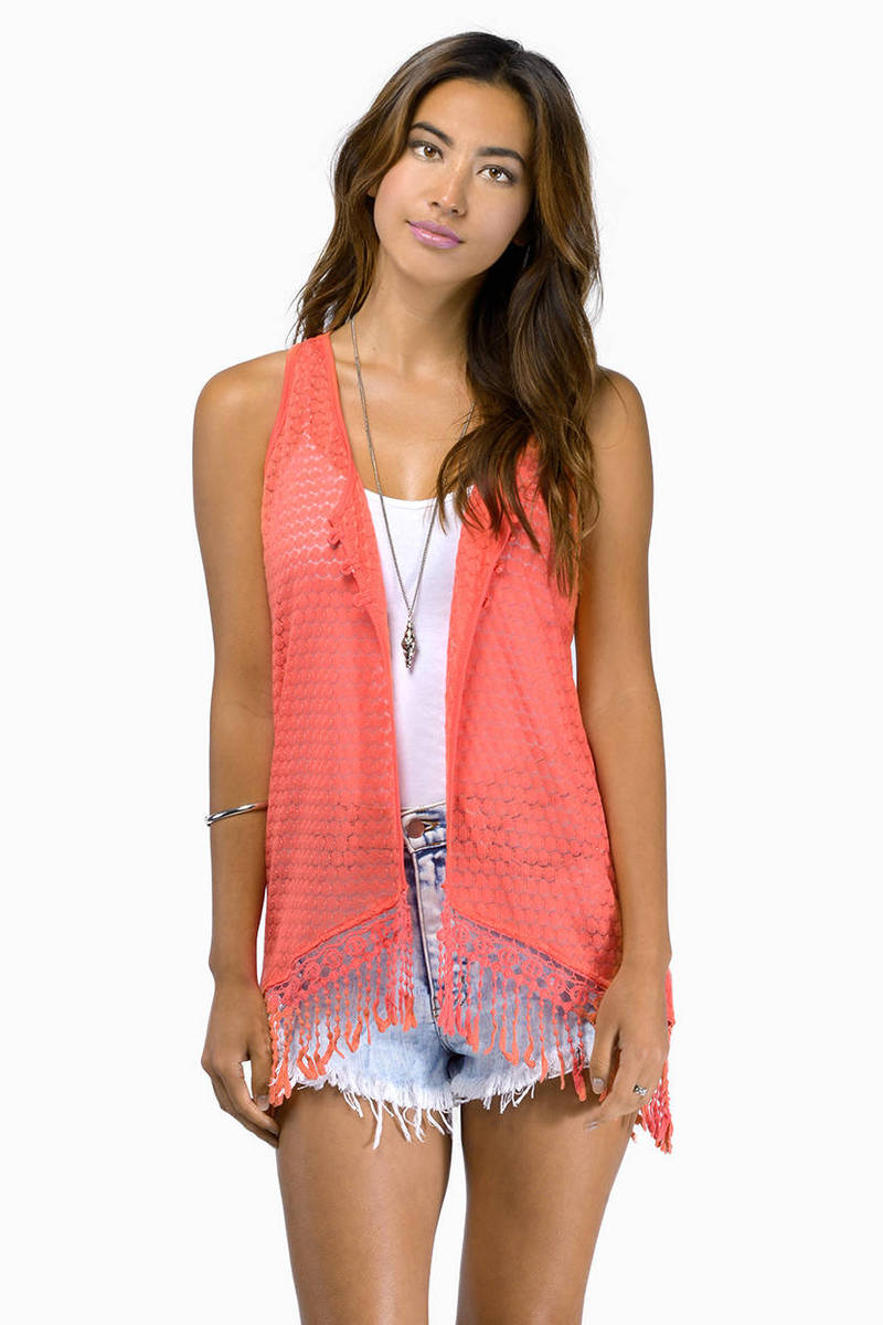 To The Desert Coral Tank Top