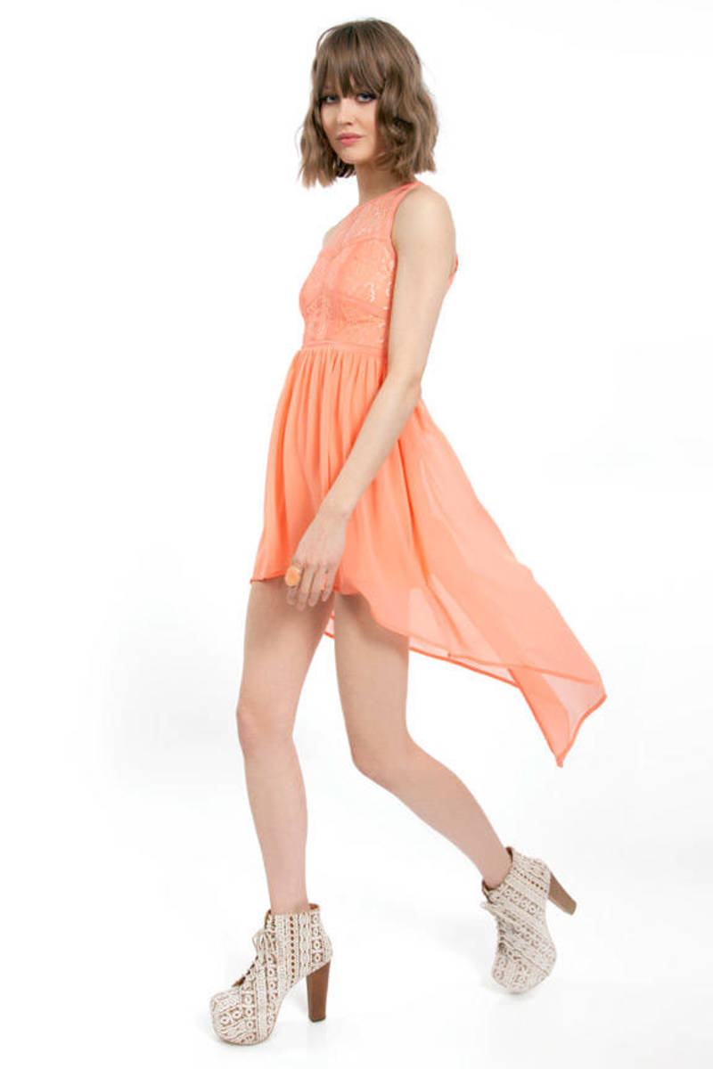 Up and Around Combo Dress