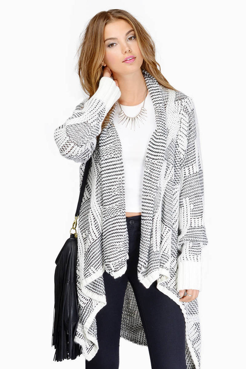 Right Angles Navy & Pink Aztec Print Cardigan
