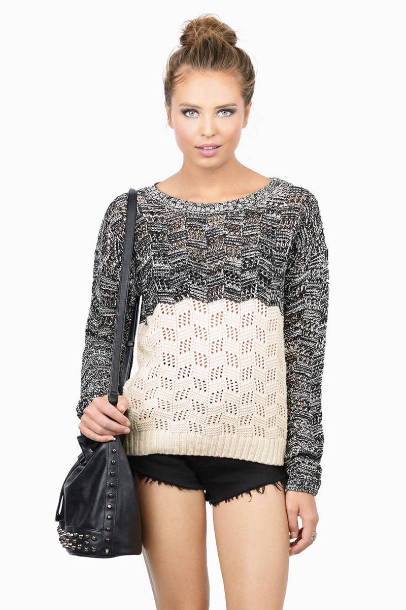 Winter Fun Grey Knitted Sweater