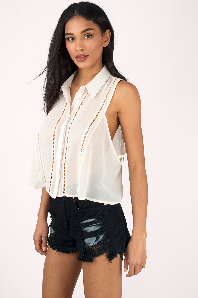 Decode Me Cream Blouse