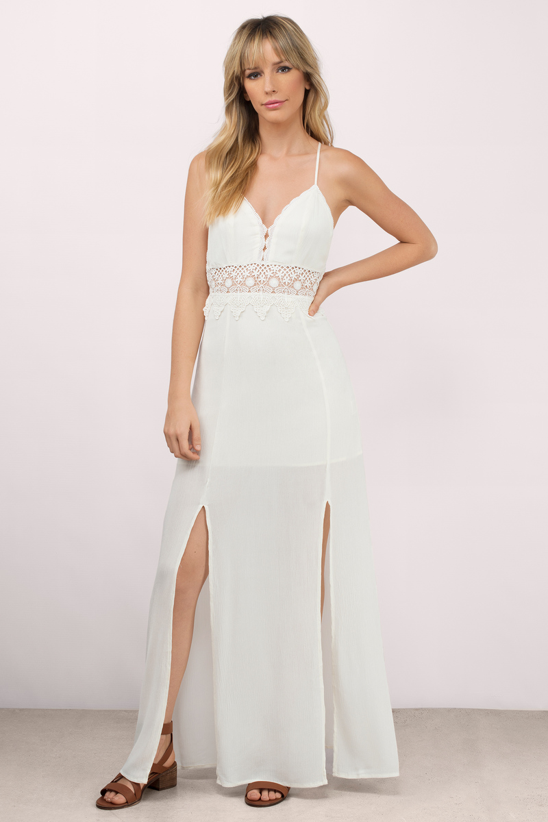 Trendy Cream Maxi Dress - White Dress - Gauze Dress - $92.00