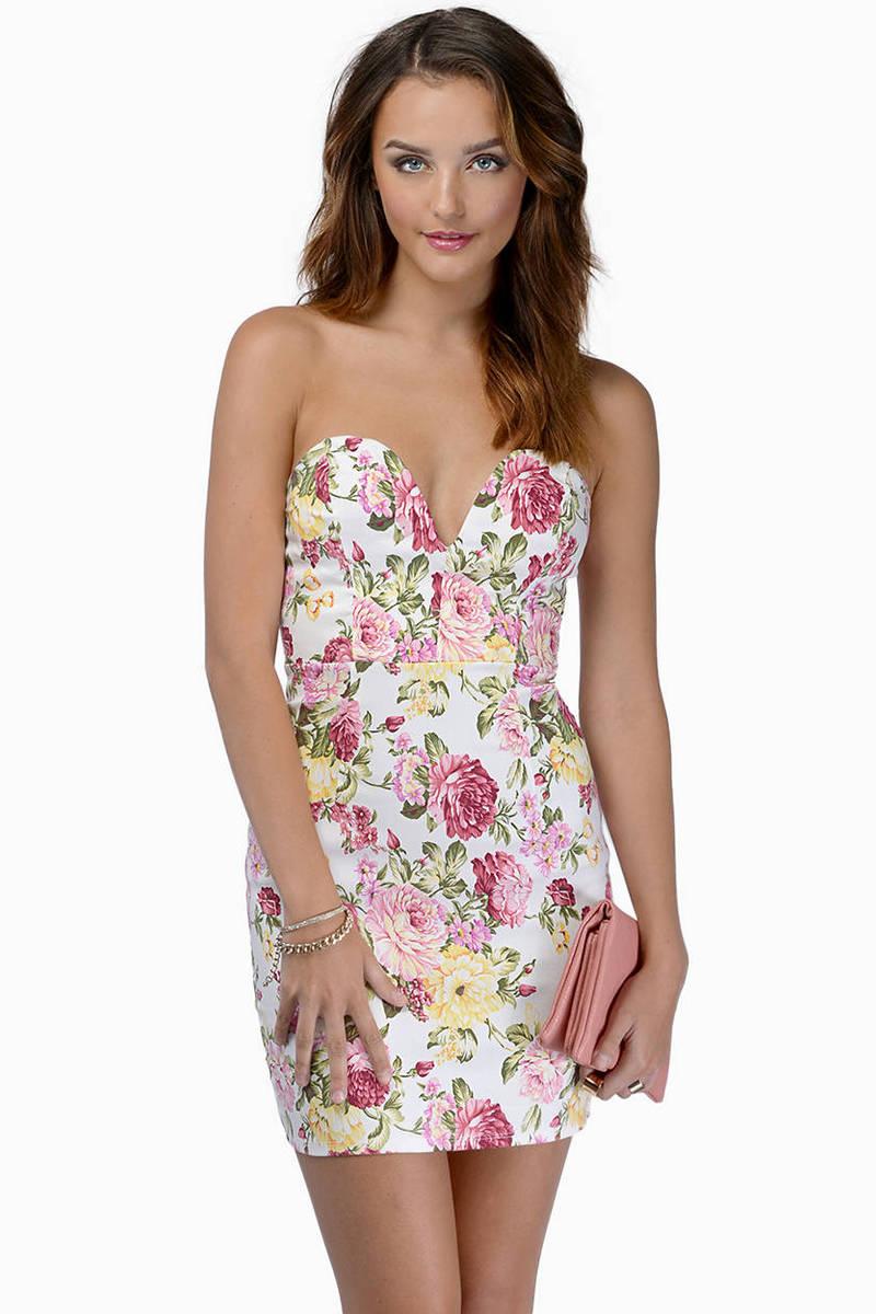 Blushing Blooms Floral Dress