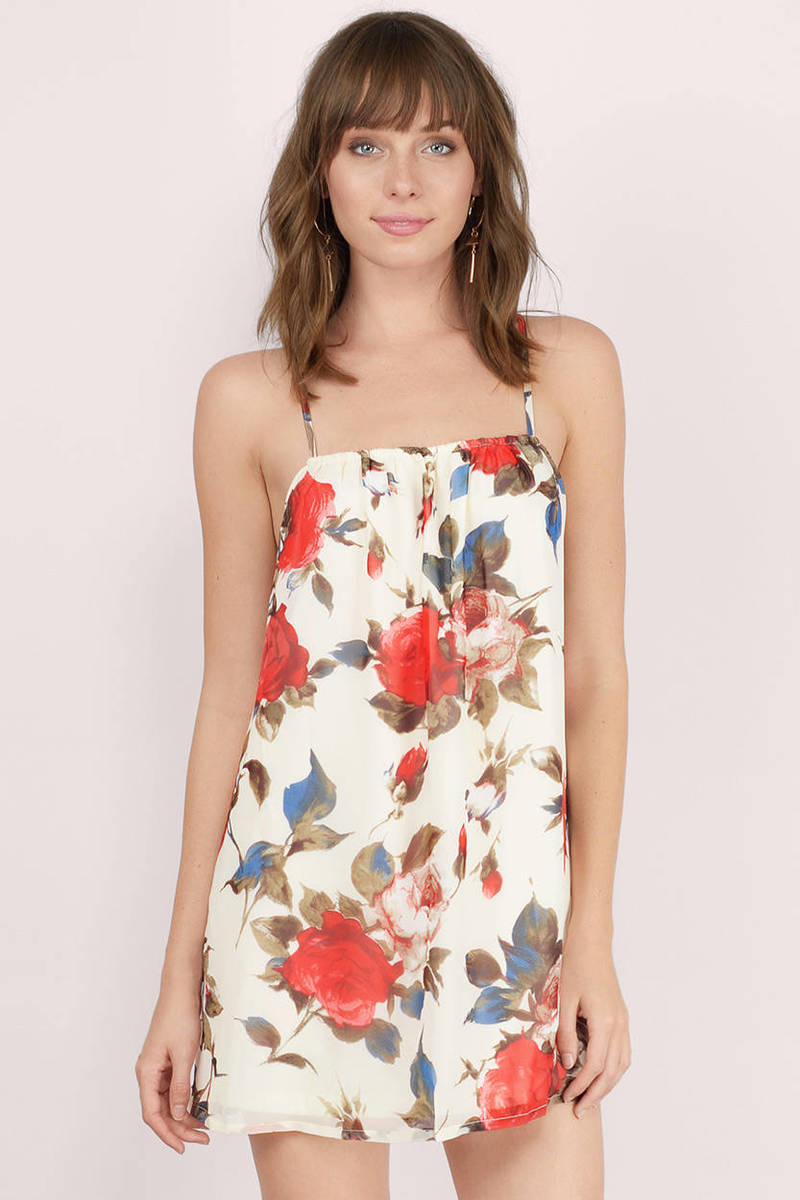 Sweet Talk Me Cream Floral Floral Day Dress