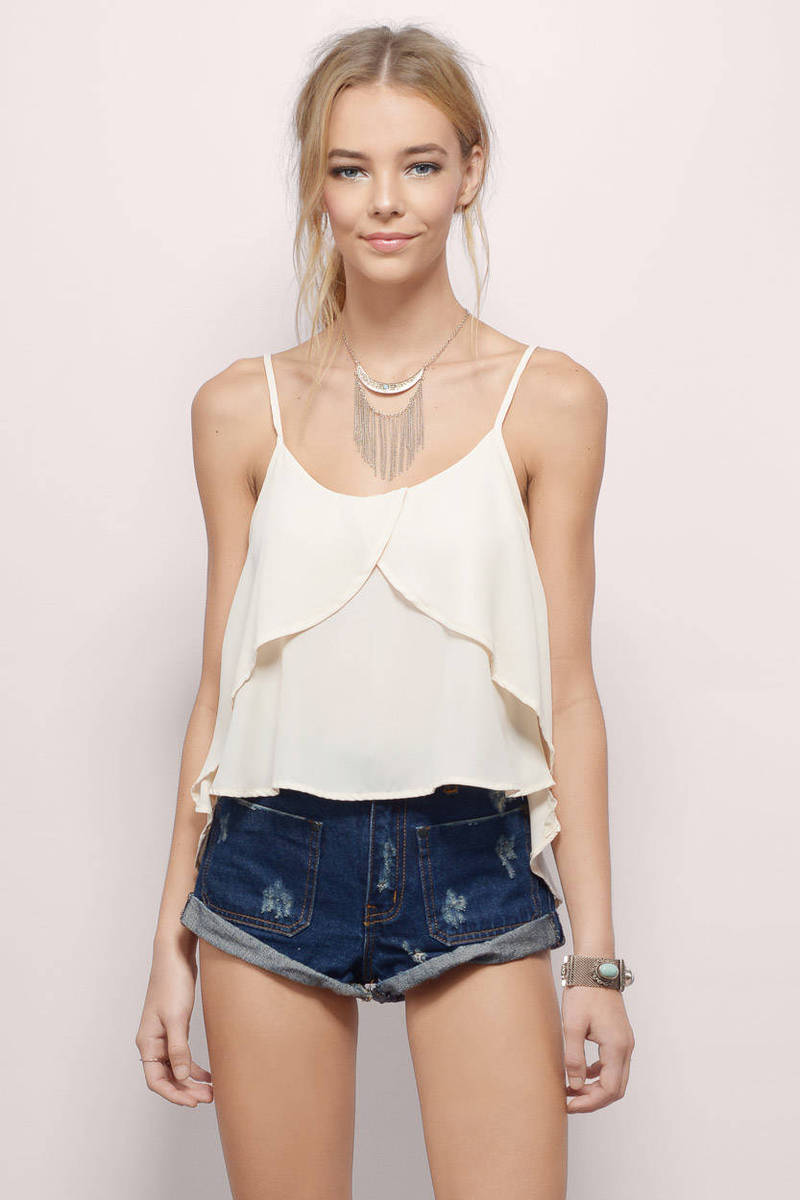 Lost In Transition Cream Tank Top