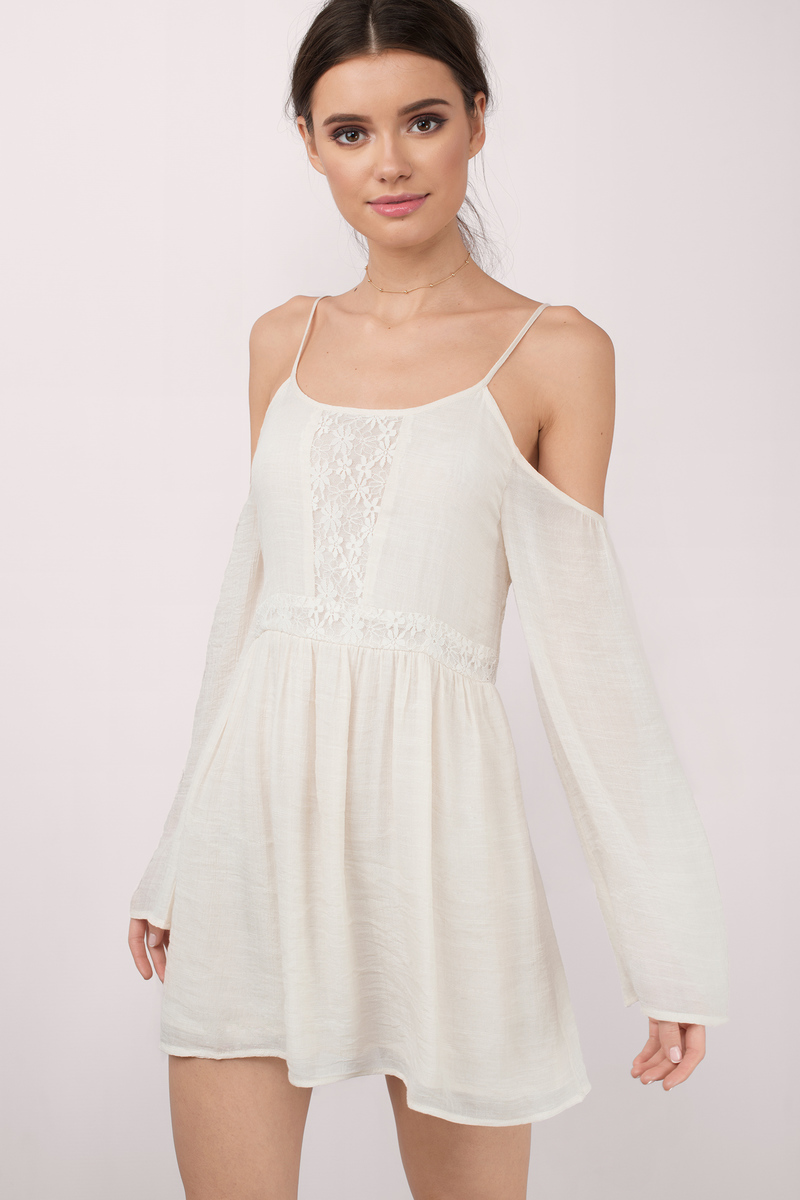 Marseille Cream Skater Dress