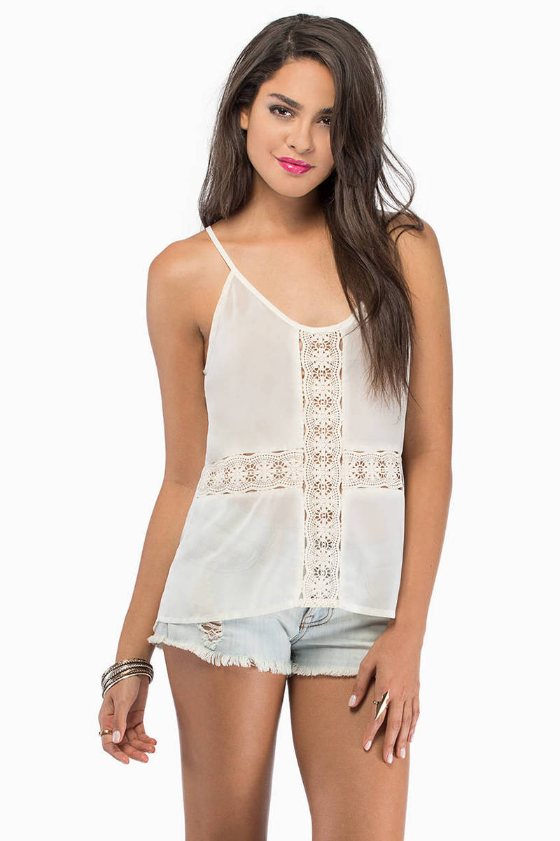 Soft And Gentle Cream Tank Top