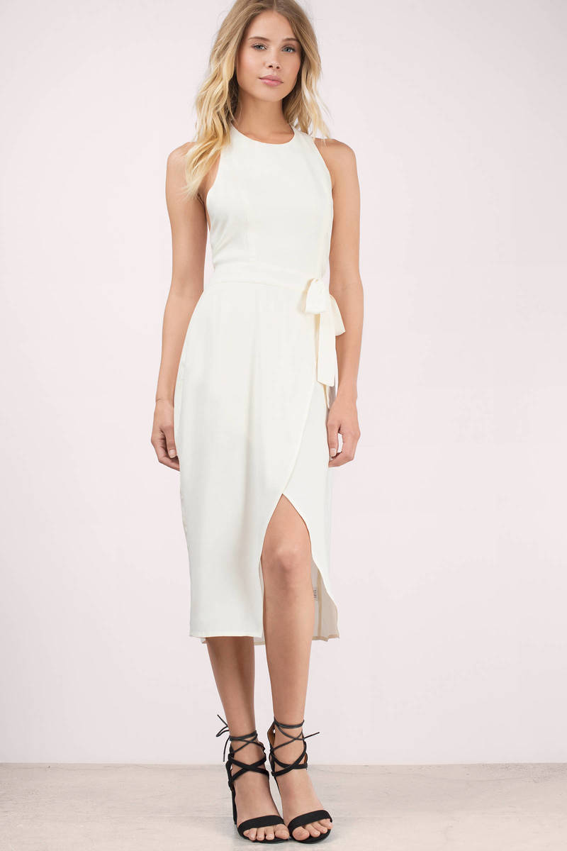 Time Warp Cream Midi Dress