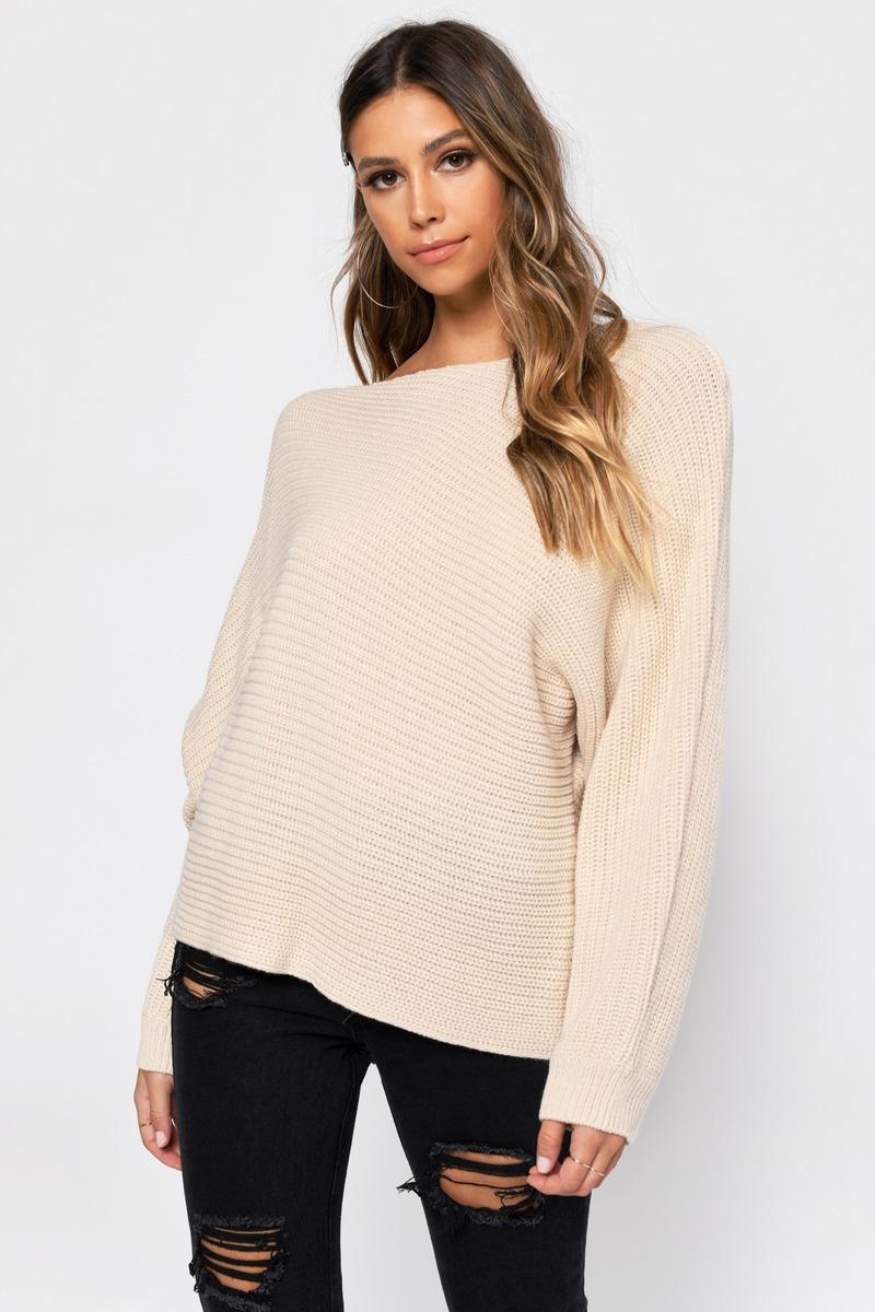 fbfd433b81 White Sweater - Slouchy Sweater - White Asymmetrical Sweater -  36 ...