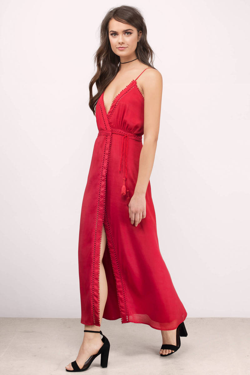 The Jetset Diaries The Jetset Diaries Regla Crimson Midi Dress