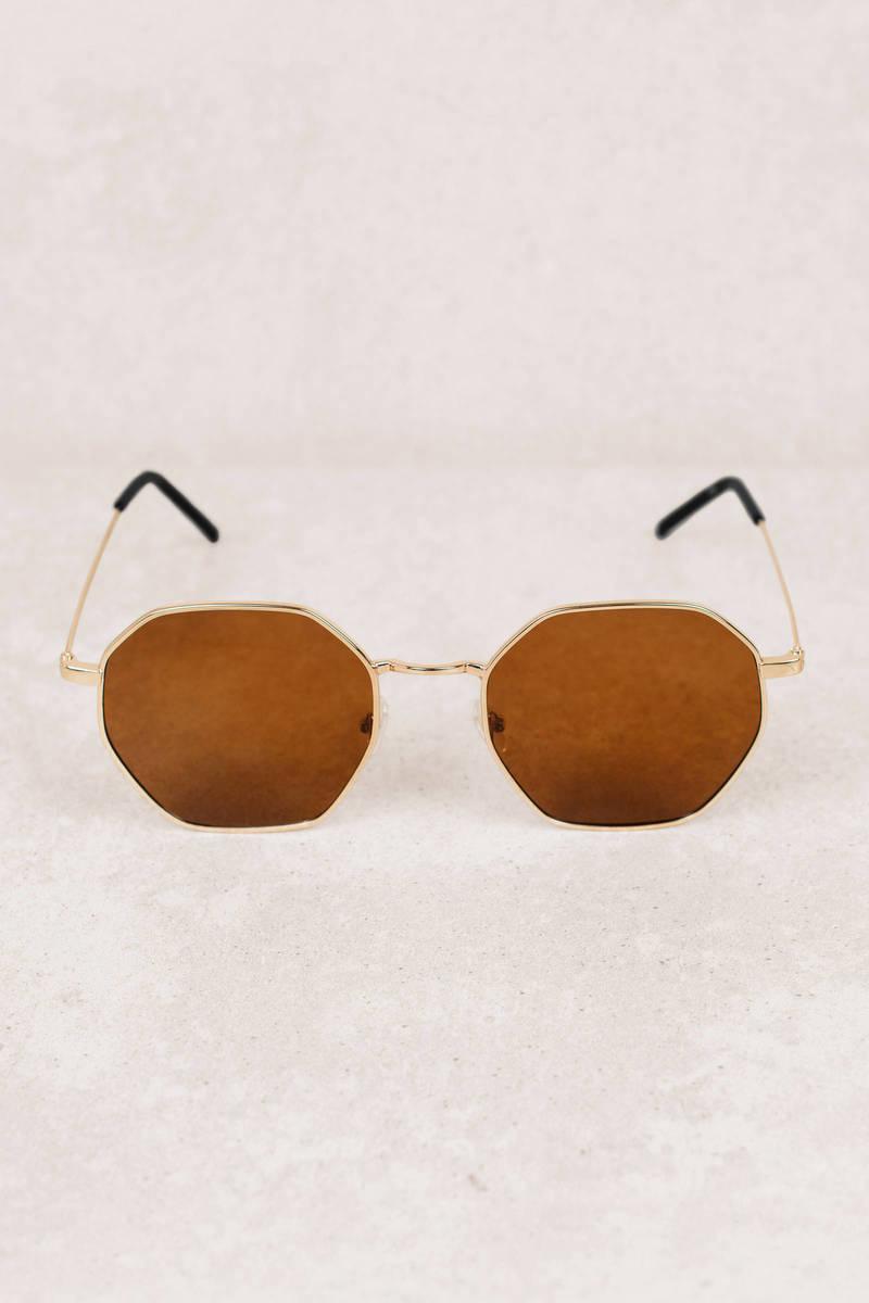 e308ce2626 Brown Sunglasses - Octagon Sunglasses - Brown Summer Sunglasses ...