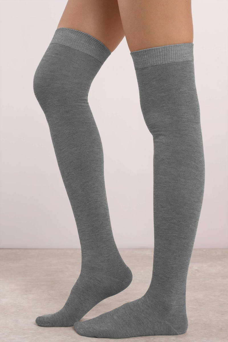 Product Features knitted fabric, the thigh high socks are more thick-increased by.