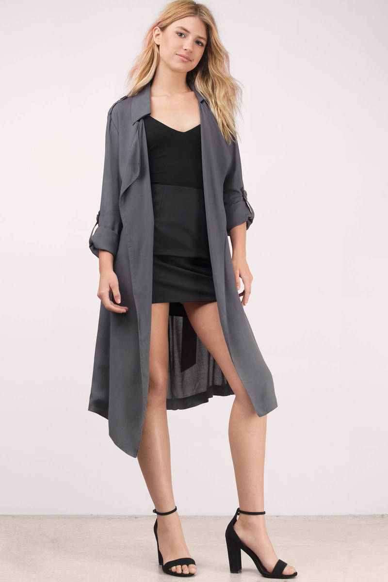 Monsoon Dark Grey Trench Jacket