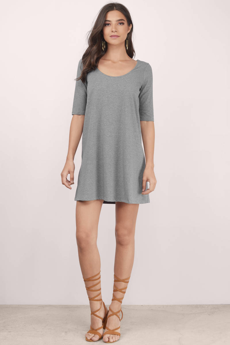 Heartbeat Navy Shift Dress