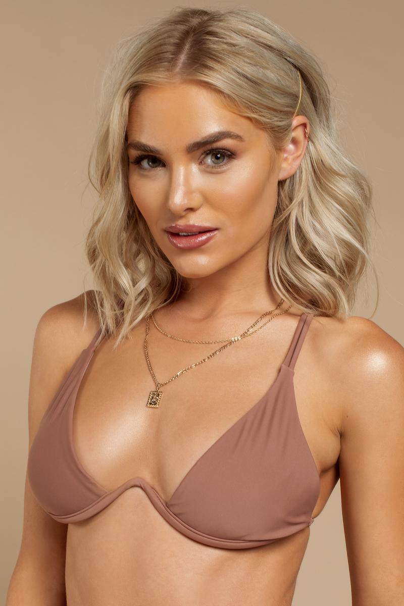 b0c94ee57ec Pink Bikini Top - Strappy Back Bikini - Pink Underwire Swim Top - $6 ...