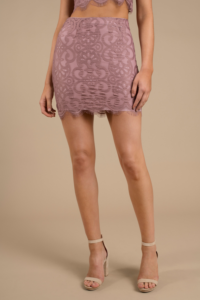6bc48d1fd7705 Pink Skirt - Floral Lace Skirt - Pink Pencil Skirt - Going Out Skirt ...