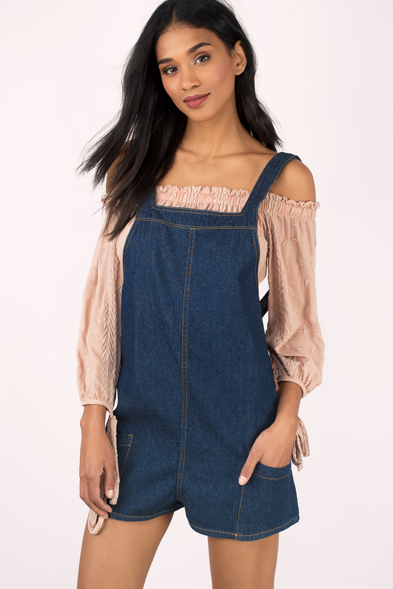 Chelsea Dark Wash Denim Romper