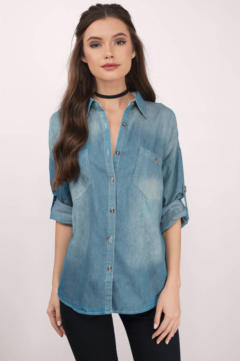 Per Denim Light Wash Shirt