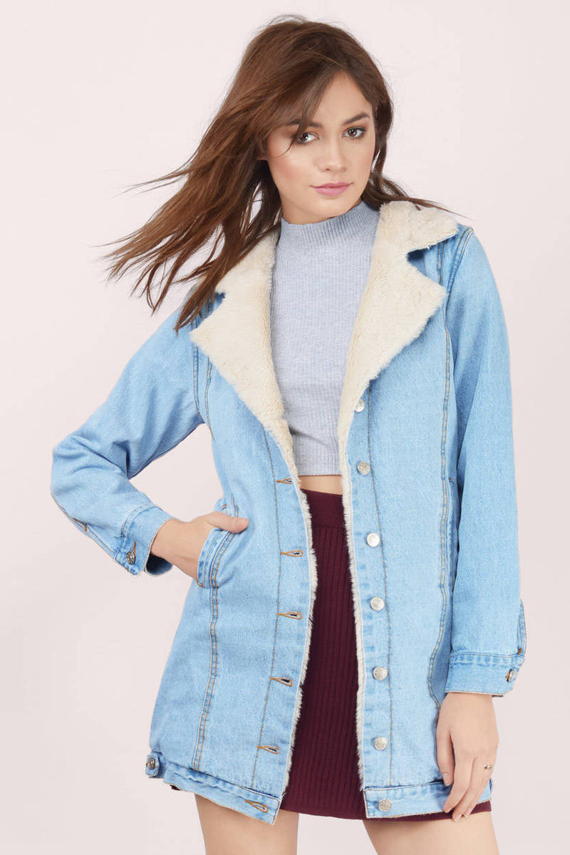 Revolution Denim Shearling Coat