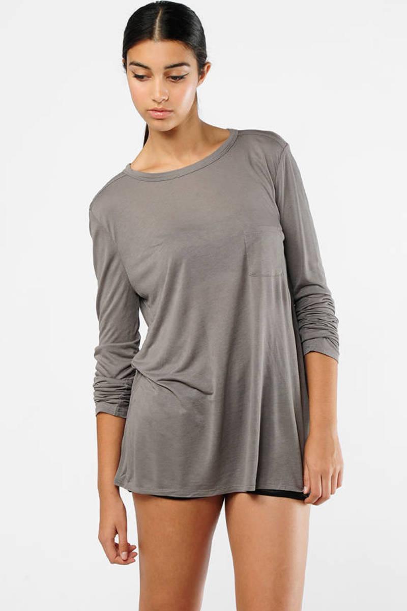 Long Sleeve Flowy T Shirt Dress