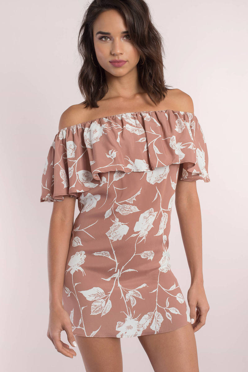 Roe + May Roe + May Ravello Dusty Floral Shift Dress
