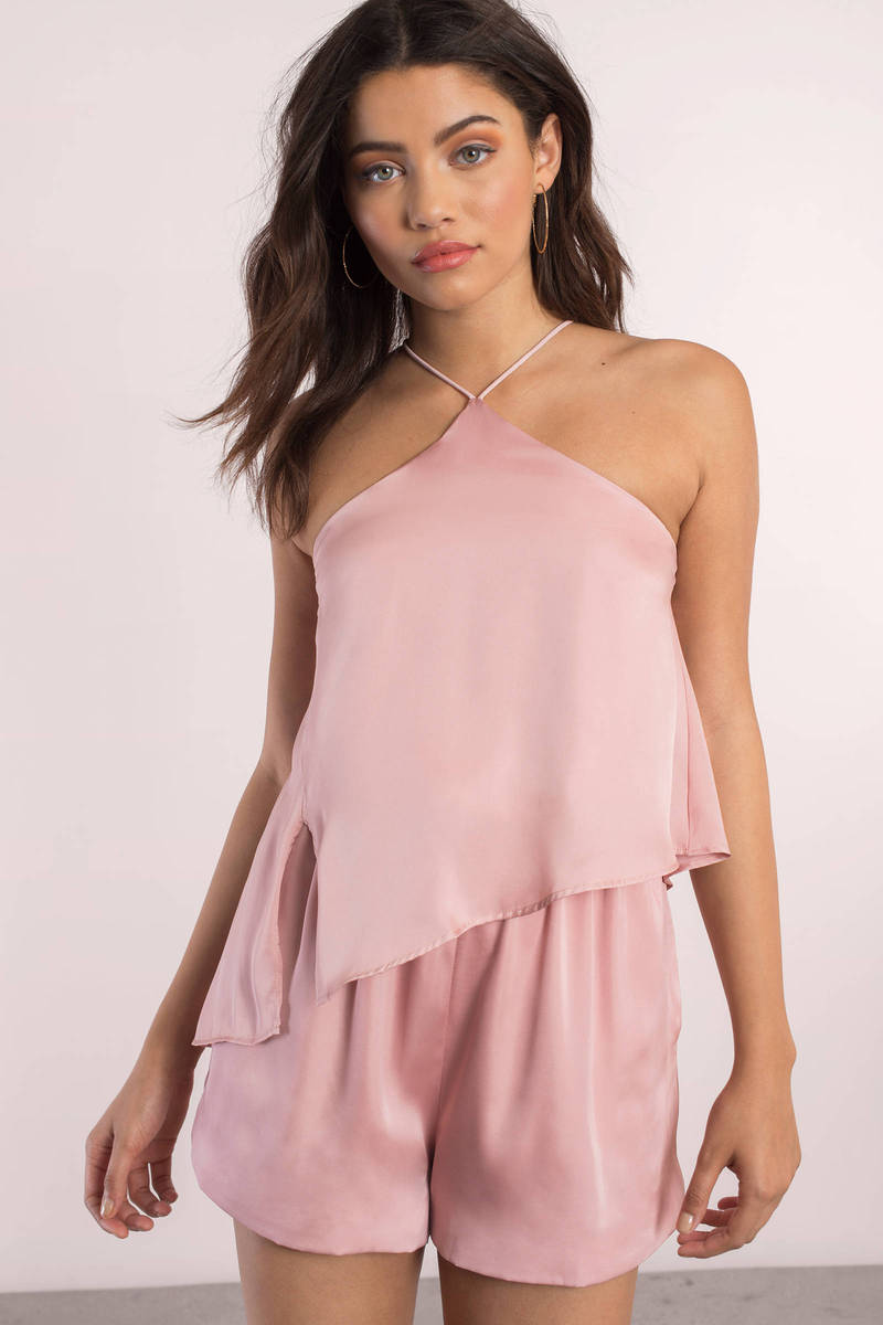 Stylestalker Stylestalker Avianna Dusty Pink Romper