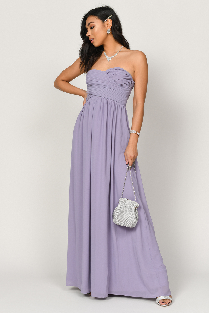 Go Glam Light Blue Strapless Maxi Dress 32 Tobi Us