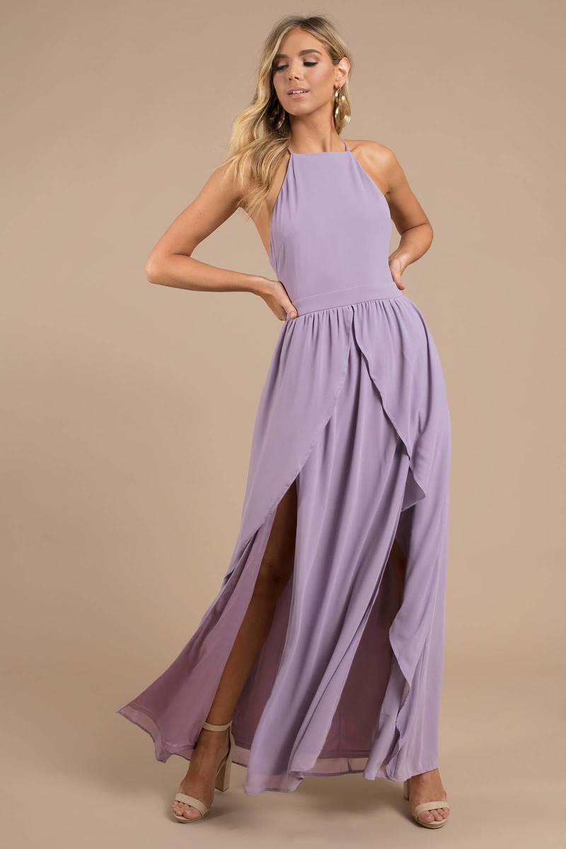 popular stores wholesale sales size 7 Helena Dusty Purple Halter Maxi Dress - kr 1.018 | Tobi NO