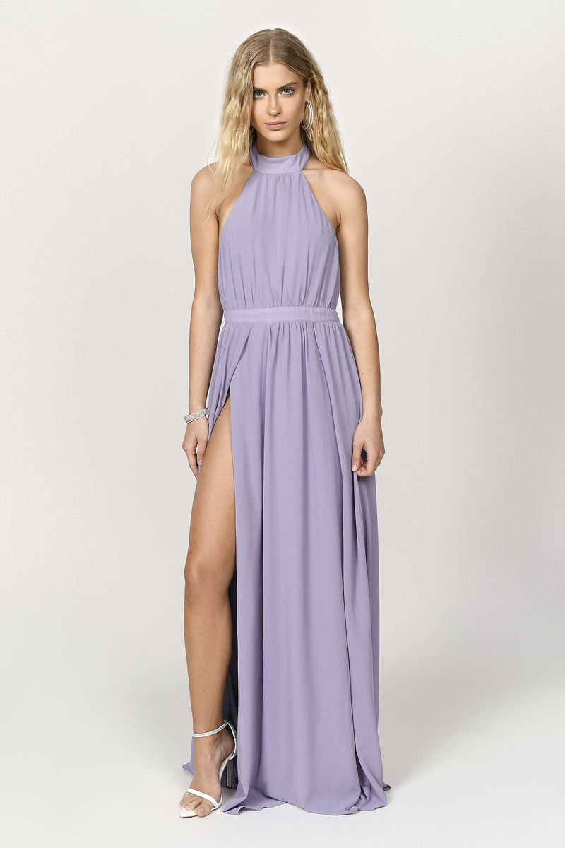 38195db46a2 Sexy Purple Maxi Dress - Flowy Dress - Purple Backless Maxi Dress ...