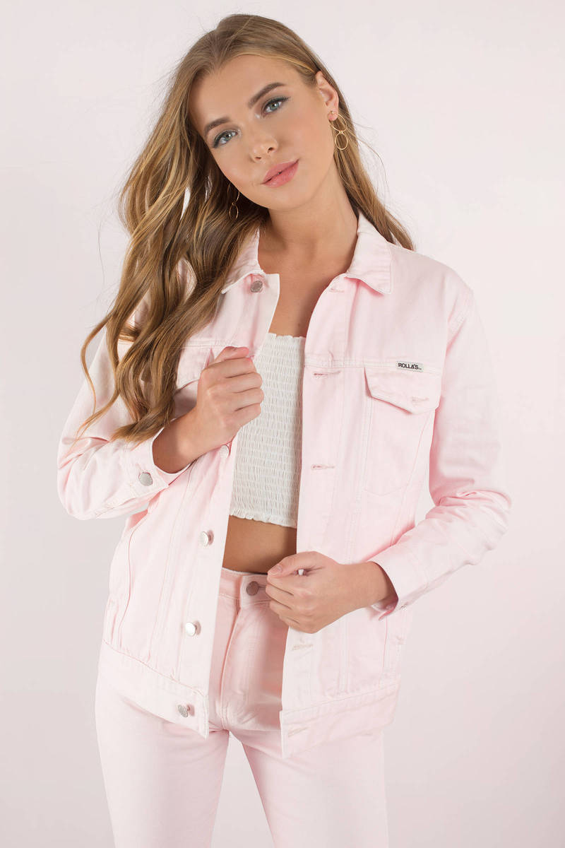 ROLLA'S Rolla's Slouch Faded Pink Jacket