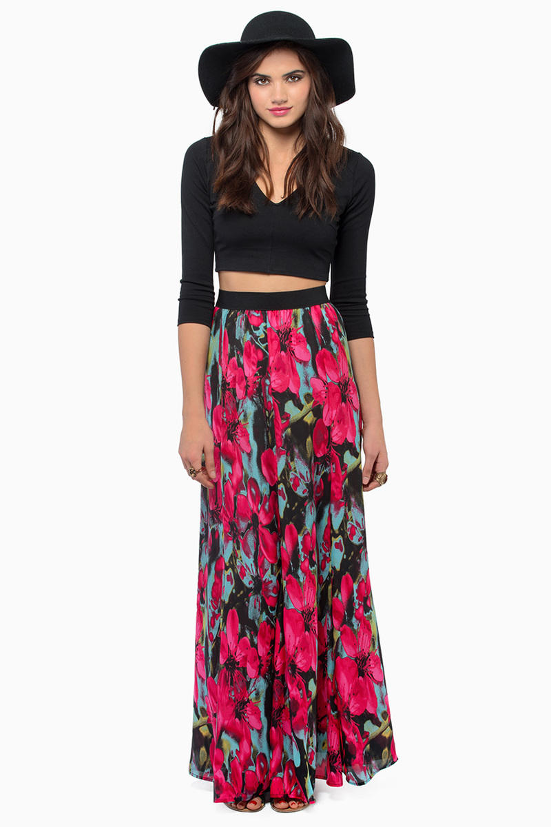 BB Dakota Winona Printed Maxi Skirt