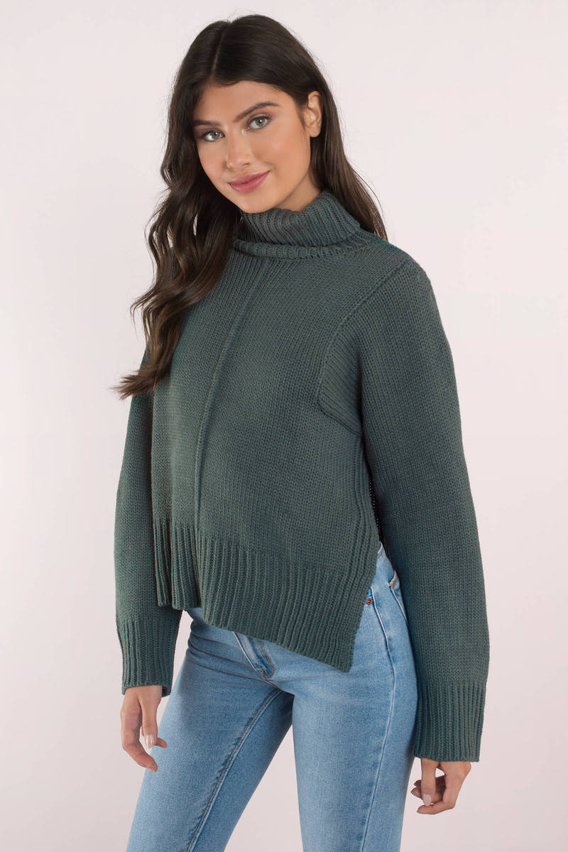 Lucca Couture Lucca Couture Tracy Forest Long Sleeve Sweater