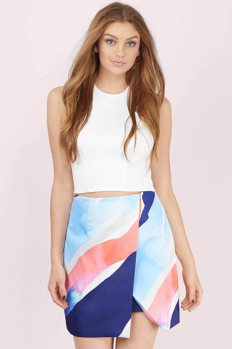 Finders Keepers Sweet Talker Asymmetric Skirt