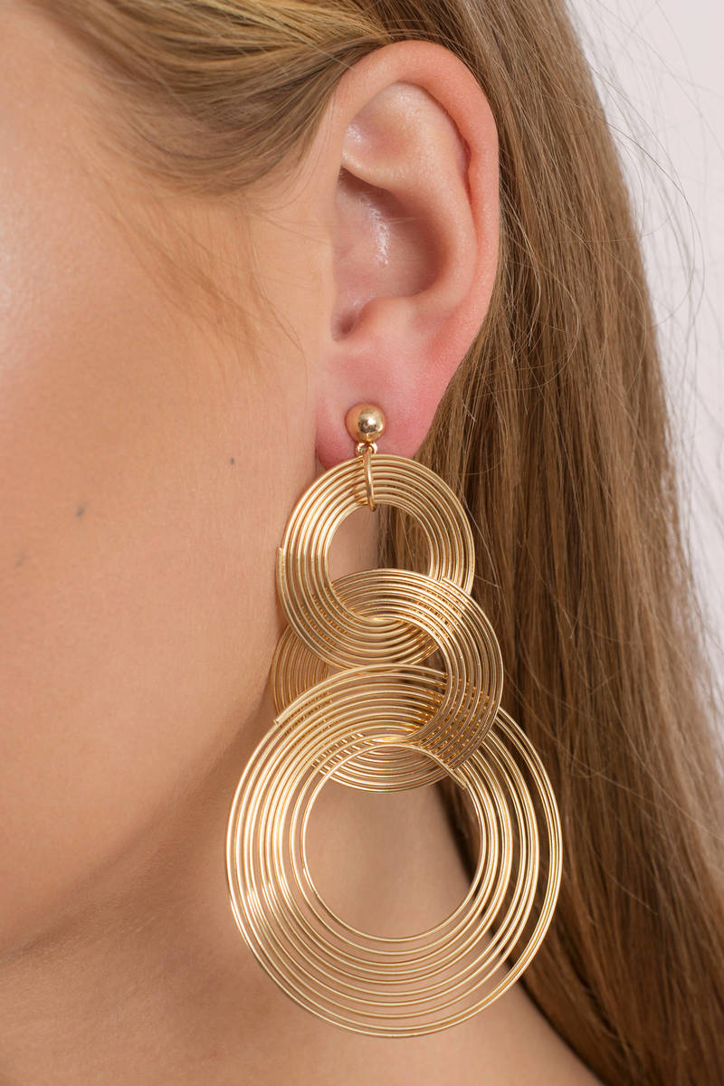 Alexandria Gold Statement Earrings