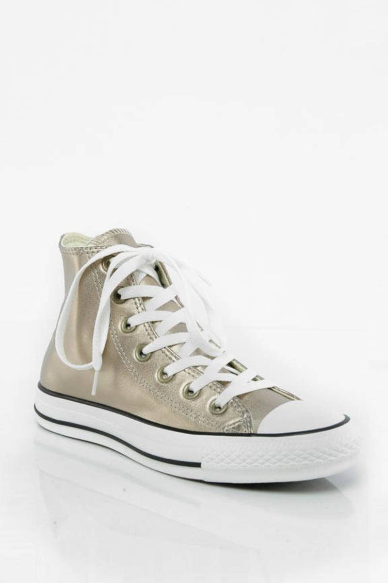 8383a4974fd7 Gold Converse Sneakers - Fun Party Sneakers - Gold Lace Up Shoes ...