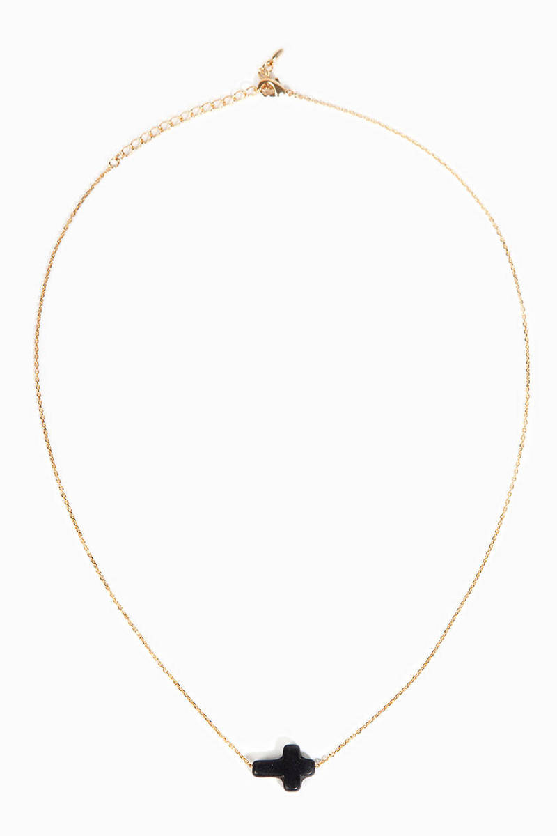 Dainty Crossed Necklace