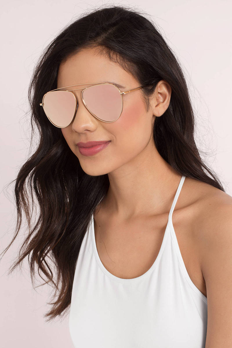Double Take Purple Aviator Sunglasses