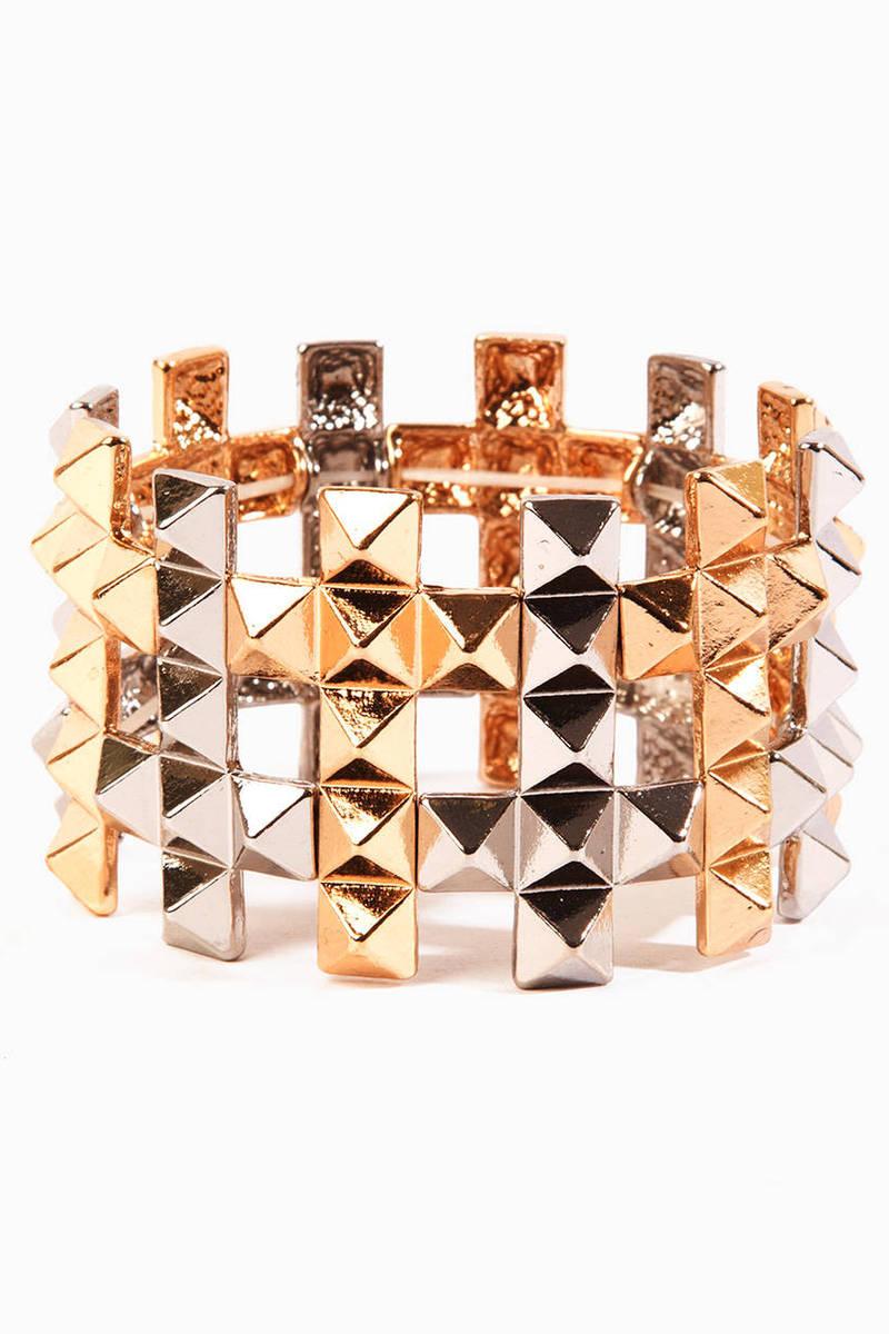 Pyramid Cross Bracelet