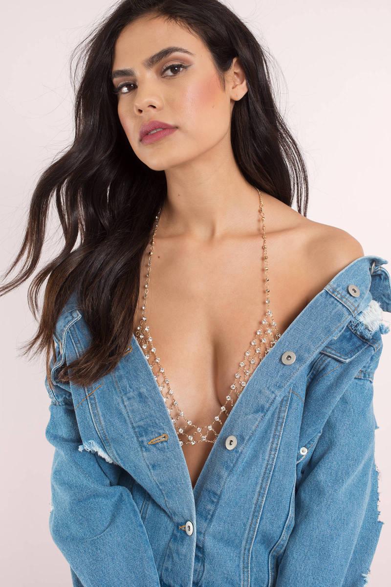 Ariel Gold Bralette Body Chain Set