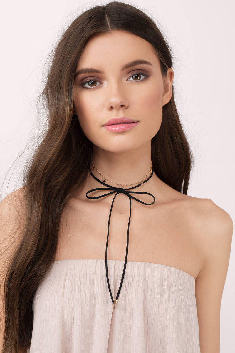 Over The Moon Gold & Black Choker Set