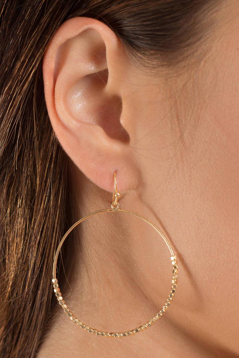 Bright Future Gold Beaded Hoop Earrings