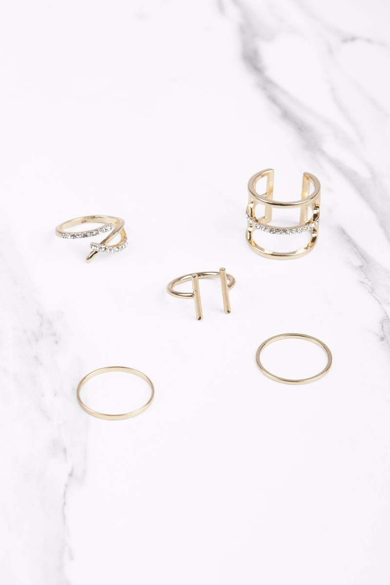 Bright Morning Gold Ring Set
