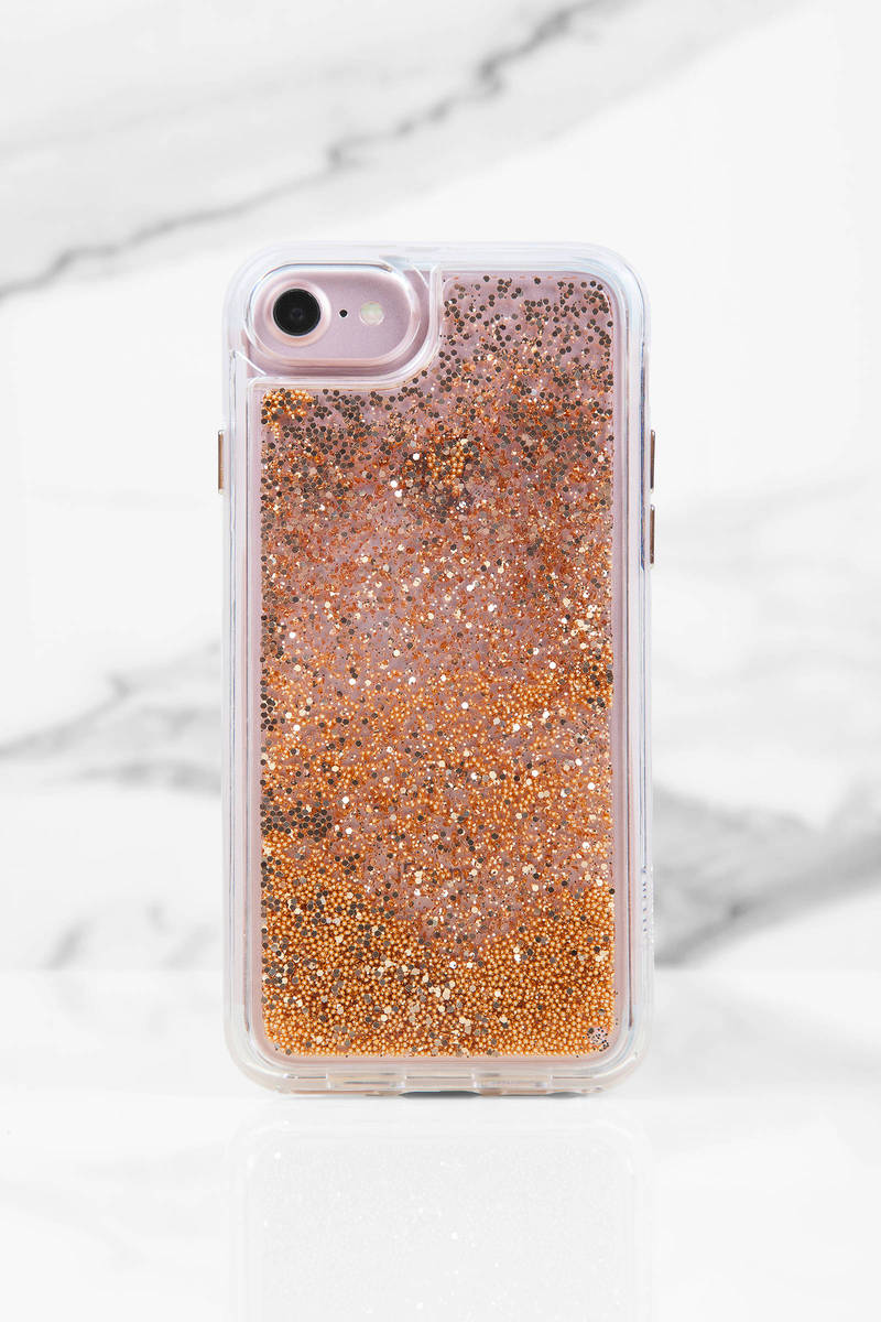 Casetify Castify Rose Pink  Iphone Glitter Case