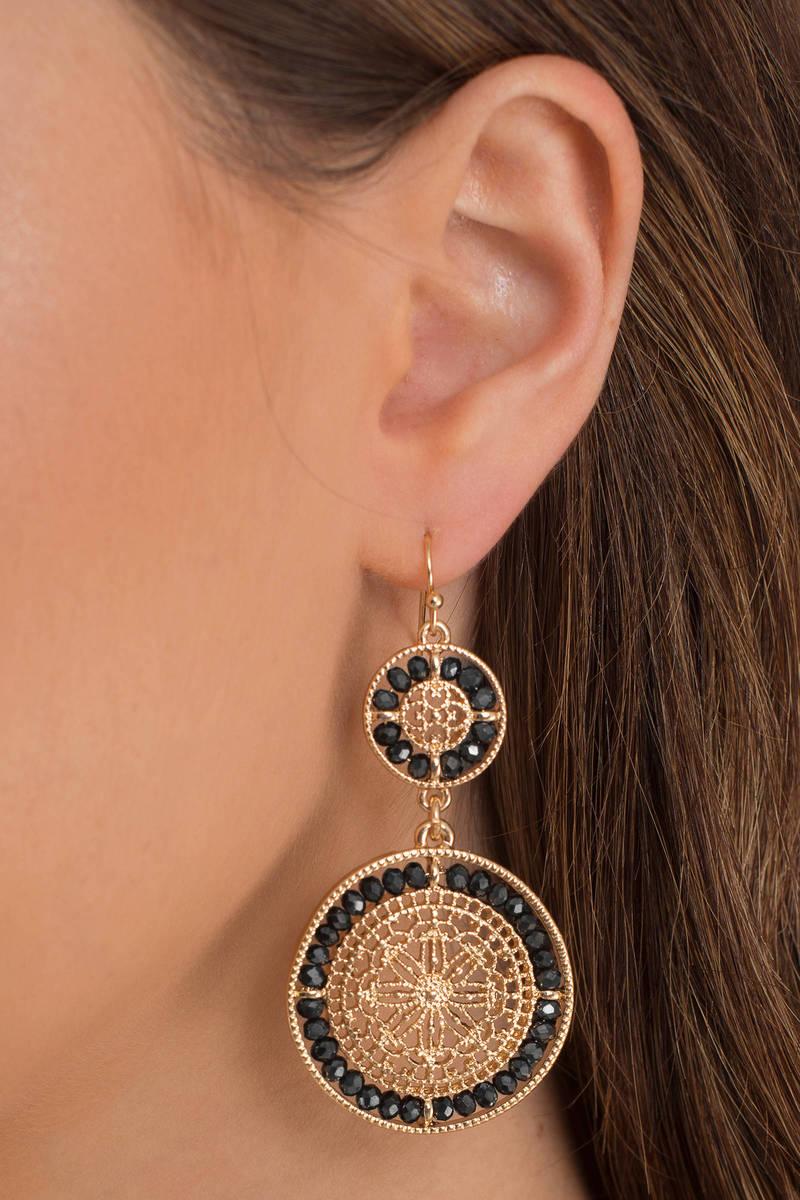 Circle around gold pendant earrings tobi circle around gold pendant earrings aloadofball Image collections