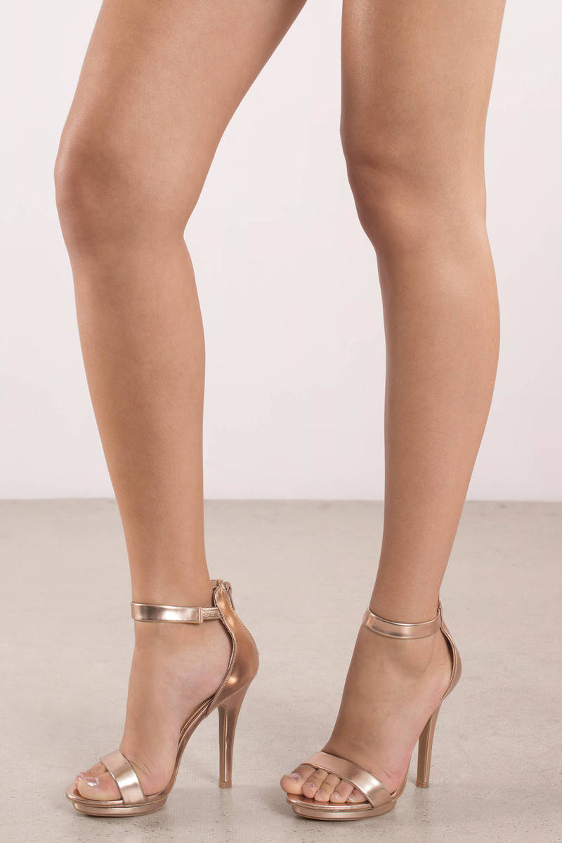 Dazzle Gold Open Toe Heels