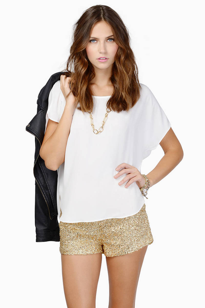 Diva Gold Sequin Shorts