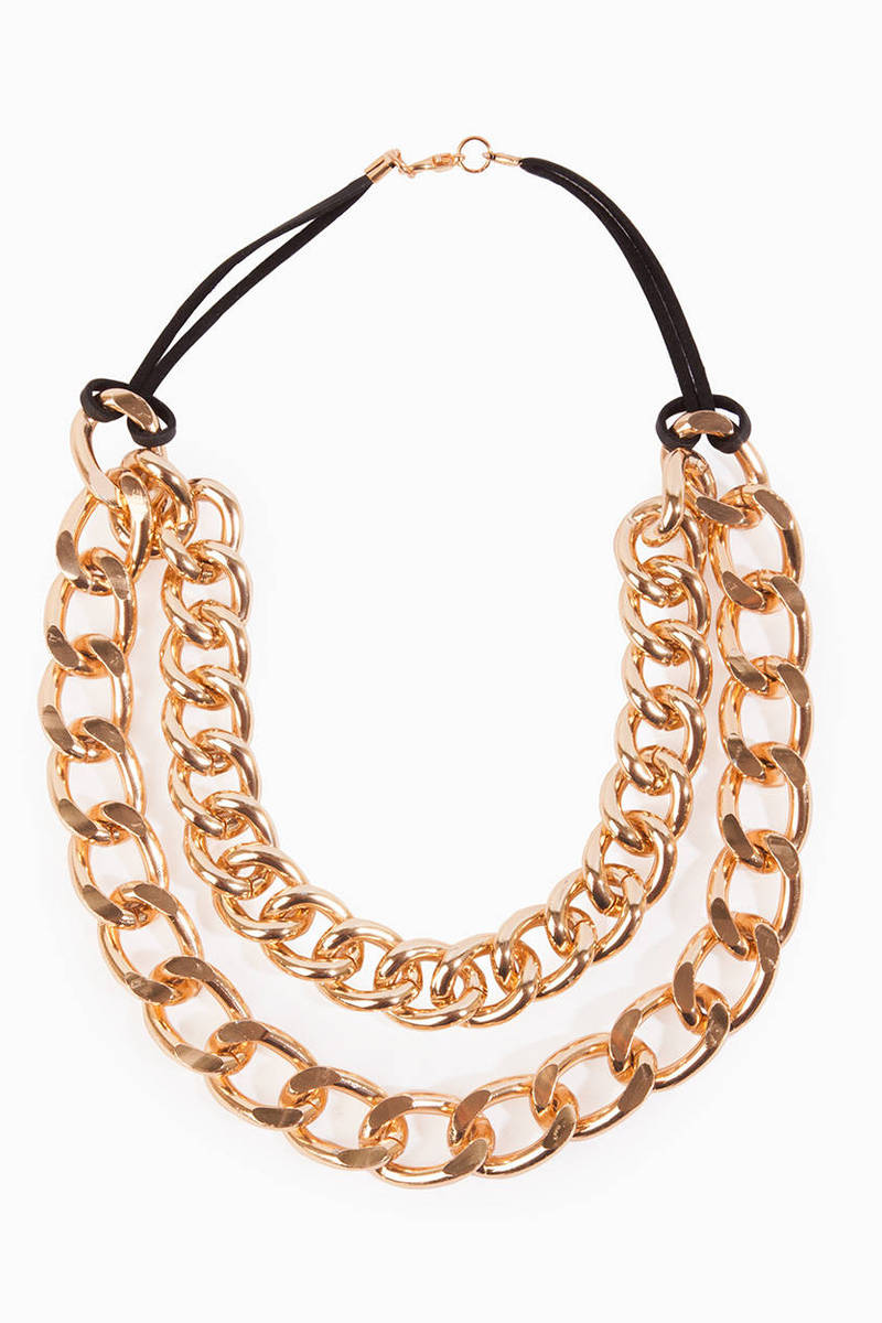 Double Chain Curb Necklace